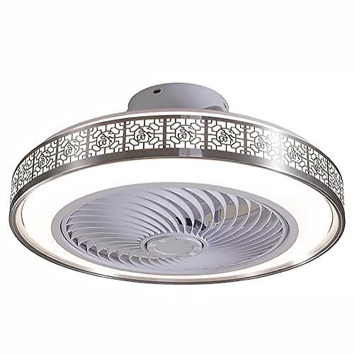 Ventilateur Au Plafond avec Éclairage,Dimming Réglable Vitesse du Vent Télécommande LED 72W Ventilateur Invisible Lumière,Plafond...