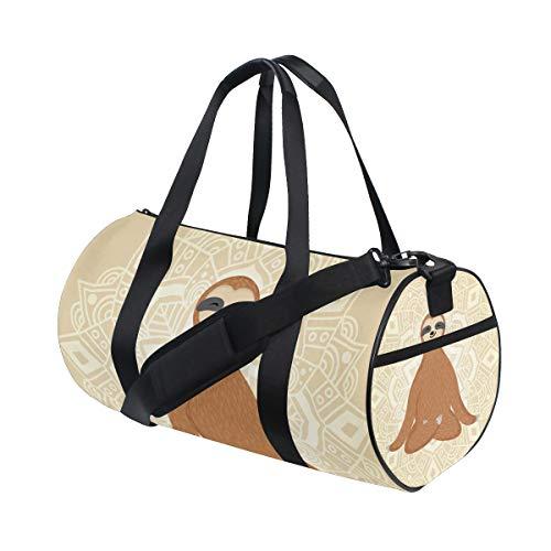 Bolsa de deporte de gimnasio con diseño de perezoso para yoga y viaje para hombres y mujeres
