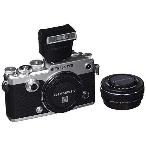 Olympus PEN-F Kit, Micro Four Thirds Systemkamera (20,3 Megapixel, 5-Achsen Bildstabilisator, elektronischer Sucher) + M.Zuiko 14-42mm Zoomobjektiv, silber/schwarz