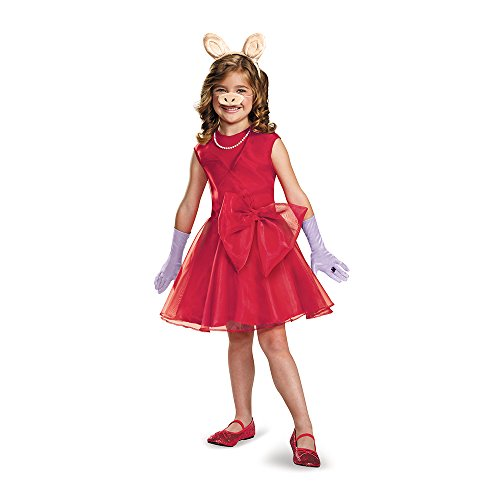 Disguise 88647K Miss Piggy Classic Costume, Medium (7-8)