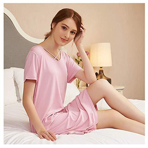 Komfort Pyjamas Für Frauen Shorts Set Baumwolle, Einfache Und Natürliche Pyjamas Rock Frühling Sommer Home, Große Größe