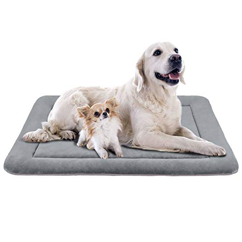 """JoicyCo Large Dog Bed Crate Pad Mat 47"""" Washable Non-Slip Bottom Pet Bed Cat Beds Mattress Kennel Pad Beds"""