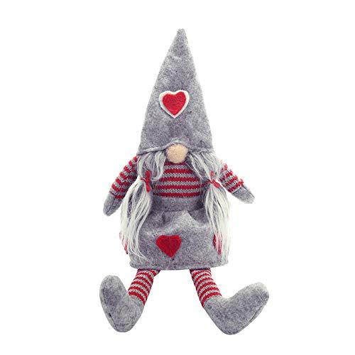 RIsxffp Navidad sin Rostro gnomo niña niño Santa muñeca Ornamento Vacaciones Fiesta decoración Regalo Girl *