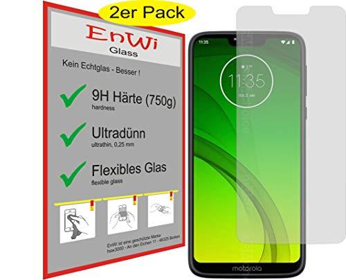 EnWi | 2X Panzer-Glas-Folie 9H Bildschirm-Schutz-Folie für Motorola Moto G7 Power