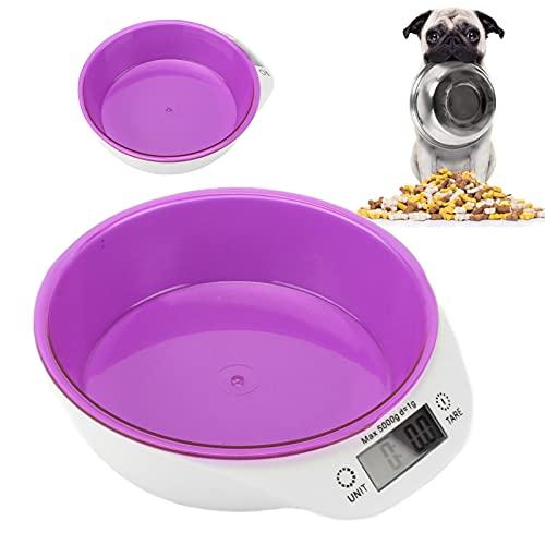 Cuenco Dosificador De Alimentos Para Animales, Cuenco De Pesaje Innovador Para Alimentos De Cocina Desmontable Para Tienda De Mascotas(Púrpura)