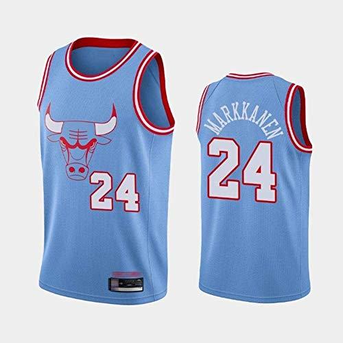 NBA Jersey Chicago Bulls 24# Markkanen clásico sin Mangas sin Mangas Chaleco de Baloncesto Camiseta Transpirable Moda Masculina (Size : XX-Large)