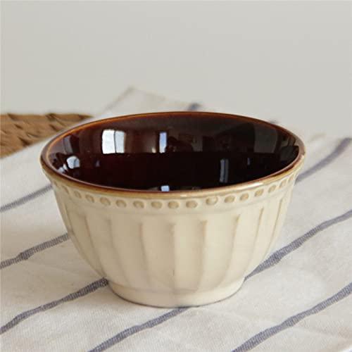 Cerámica, cerámica, bistec de campo, en relieve, esmalte al horno, olla, sopa, plato occidental, plato de pescado, cuenco pequeño de 10 cm