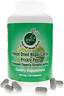 Super Concentrated Freeze Dried Nopal Cactus (Prickly Pear) Veggie & Non- GMO Capsules with Immune Booster, Arthritis, Blo...
