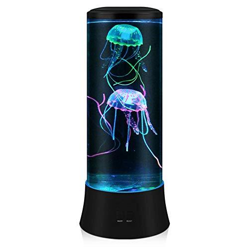 POYO LED Fantasy Quallen Lavalampe – Runde echte Quallen Aquarium Lampe – 7 Farben Einstellung Quallen Aquarium Stimmungslicht Dekoration für Zuhause Büro Dekoration Tolle Geschenke für Kinder