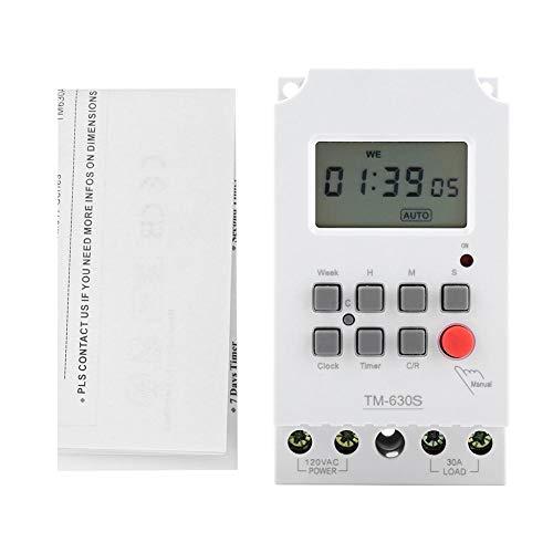 Candeon Temporizador - Temporizador de Interruptor de Control Inteligente programable Duradero eléctrico Digital 110V