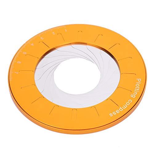 Herramienta de dibujo circular, regla giratoria flexible ajustable de acero inoxidable Regla geométrica de dibujo redonda adecuada para entusiastas de la carpintería y diseñadores 4.9In