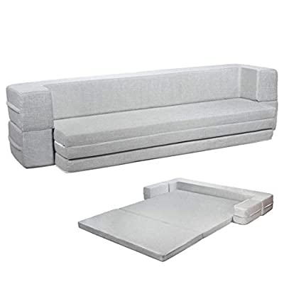 Milliard Daybed Sofa Couch Queen to Twin Folding Mattress