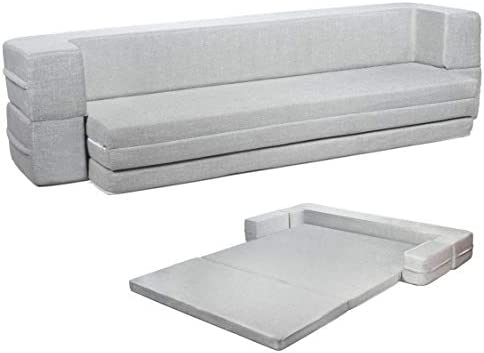 Best Milliard Modular  Floor Sofa - Daybed Sofa Couch Bed Queen to Twin Folding Mattress Fold Out