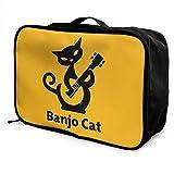 Cat Play Banjo Carry Bolsa de viaje ligera y de gran capacidad portátil con carrito de viaje