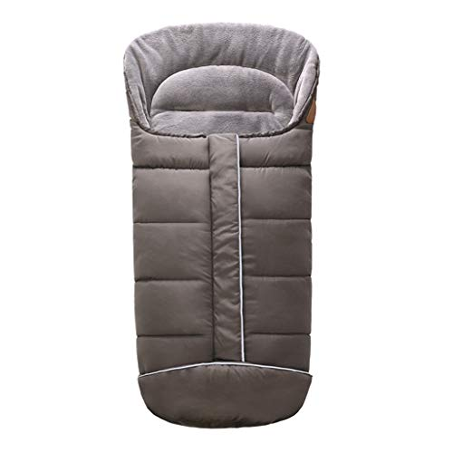 Manyao - Saco de dormir universal para bebé de invierno, manta para cochecito de bebé, accesorio para silla de paseo (gris)