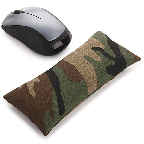 Mouse Wrist Rest Support Pad - Ergonomic Mouse Pad with Wrist Support for Computer, Laptop, Office Work, PC Gaming, Massage Ergobeads & Cotton Fabric, Camouflage