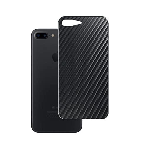 VacFun 2 Piezas Protector de pantalla Posterior, compatible con iPhone 7 plus / 8 Plus, Película de Trasera de Fibra de carbono negra Skin Piel