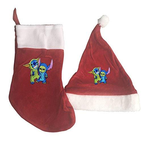 AAAshorts Baby Yo-Da Friends - Juego de calcetines de Navidad y gorro para celebraciones, fiestas, decoración del hogar