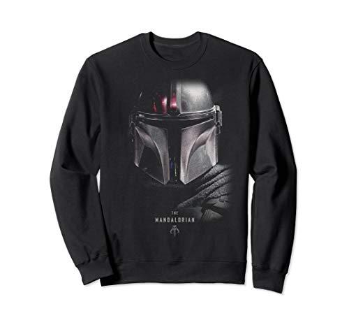 Star Wars The Mandalorian Big Face Poster Sweatshirt