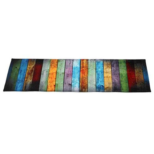 Igemy New Dining Wohnzimmer Teppich Shaggy Soft Schlafzimmer Rechteck Bodenmatte 60 * 180 cm (Bunt)