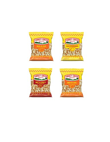 Turkey Creek - America's Best Fried Pork Skins, offers a 4-Bag Combo Pack of its top Pork Rinds (2-BBQ, 1-Regular & 1-Hot). These Pork Skin Chips (Chicharrones) are packed in full 2.0 oz bags.