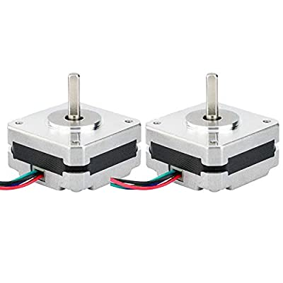Sonline 2Pcs 17Hs08-1004S 4-Lead Nema 17 Stepper Motor 20mm 1A 13Ncm(18.4Oz.in) 42 Motor Nema17 Stepper for DIY 3D Printer CNC Xyz