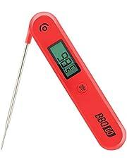 Inkbird Digitale Vleesthermometer BG-HH1C, Keukenthermometer met Opvouwbare Probe, Draadloze BBQ Thermometer voor Koken, Snoep, Bakken, Frituren