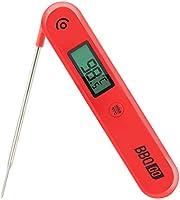 Inkbird Digitale Vleesthermometer BG-HH1C, Keukenthermometer met Opvouwbare Probe, Draadloze BBQ Thermometer voor Koken,...