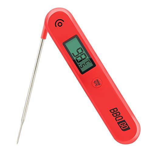 Inkbird Digitale Termometro BG-HH1C per Alimenti a Lettura Istantanea con Sonda Pieghevole e Grande Schermo per Carne, Griglia, Barbecue …