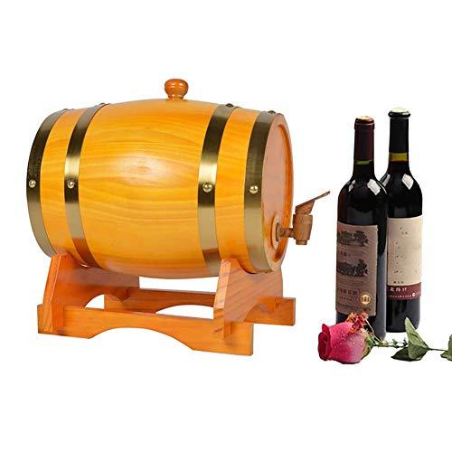 Naranja elegante Mini Barril de vino Barril Puro Barril de vino Barril Fermentación Barril Barril Barril Barril Barril Capacidad 3L Apto para almacenamiento y colección de whisky, tequila, brandy, cer