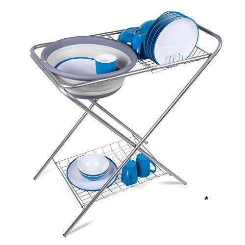 Waschstand Waschtisch Waschbecken Waschschüssel Küchenschrank Klapptisch Campingküche Outdoor Spüle Spülschüssel Spülwanne Spültisch Spülbecken Schüssel Silikon Wasserschüssel faltbar Camping