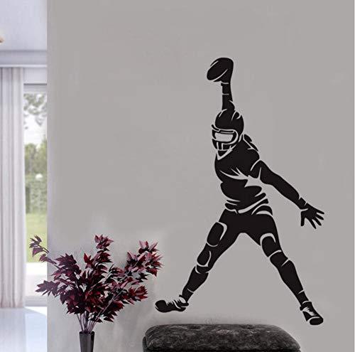 WVOVW Football Wall Stickers Children Bedroom Wall Decoration Vinyl Adhesive Stickers Wall Decals 44cm X 69cm DS1577