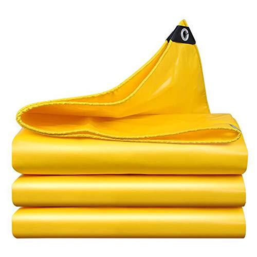 Lonas Impermeables,Lona Resistente con Ojales,Cubierta De Hoja De Suelo Reforzada Rip-Stop,Paño De Lluvia del Balcón del Patio,para Plantas Invernadero Pet Hutch Roof(Color:Amarillo,Size:3 × 6 m)