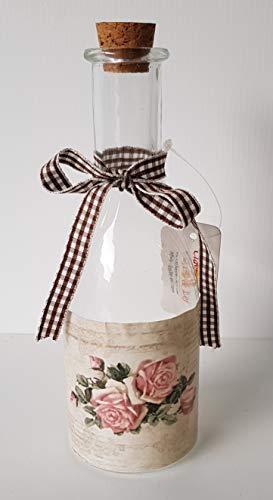 Clayre & Eef 6GL1180Clayre & Eef–Decorazione–Bottiglia in vetro con tappo di sughero ca. Ø 6x 18cm