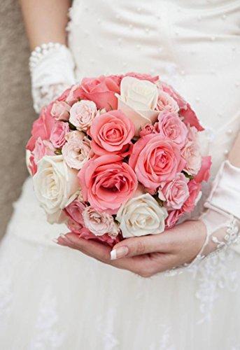 Panchoka - Artificial & Dried Flowers - 6 Pcs Diy Craft Foam Wedding Party Mariage Decoration Flowers Holder Bouquet Handle Bridal Floral - Backdrop Birds Vines Golden Bathroom Oval Lavender Liv