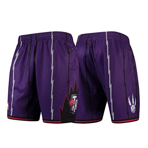 canottejerseyNBA Pantaloncini Toronto Raptors; Shorts da Basket, Retro Vintage Jersey Maglia Canotta (Viola Vintage, L)