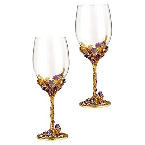 IMIKEYA Copas de Vino de Cristal Copas de Vino Tinto Copas de...