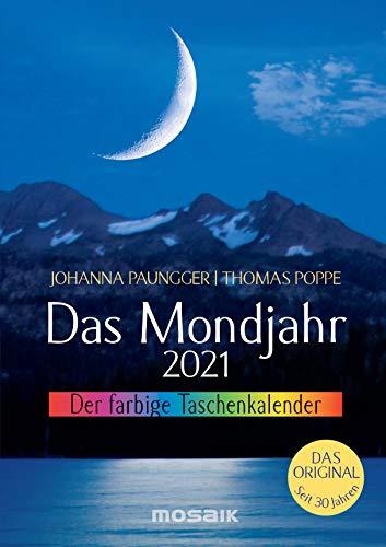 Das Mondjahr 2021: Der farbige Taschenkalender - Das Original