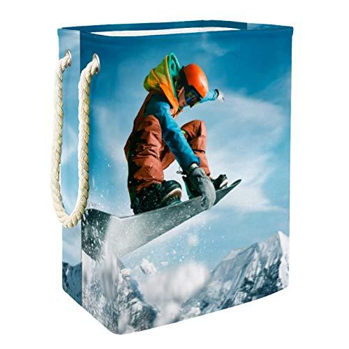 Yuzheng Esquí Deportivo Cesta de lavandería Grande Cesto de Ropa plegable, Bolsa de Ropa plegable Papelera de Lavado plegable per Home , Dorm , Hotel 60L