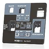 Wicked Chili, Set Adattatore per SIM 4 in 1 (Nano, Micro, Standard, Eject Pin) per Cellulare, Smartphone e Tablet.