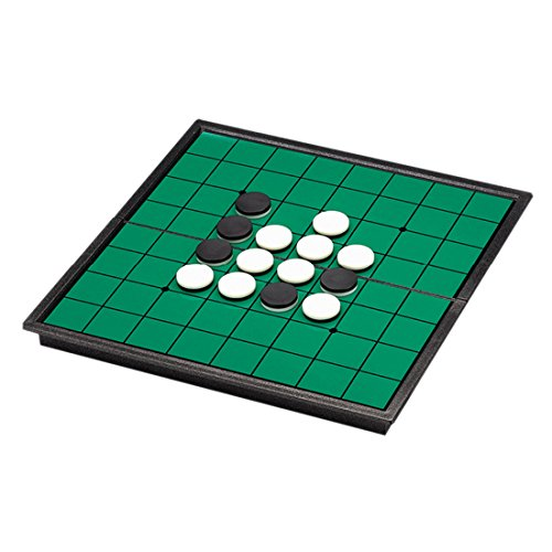GODNECE Magnetische Schachspiel, Reversi Othello Reversi Magnetisch Reversi Spiel Reise Brettspiel 2 Personen