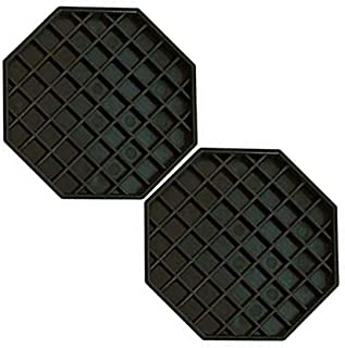 Srenta Octagonal Drip Tray | Kitchen Countertop Plastic Tool, Set of 2-6 by 6-Inch | Perfect for Bar/Beverages