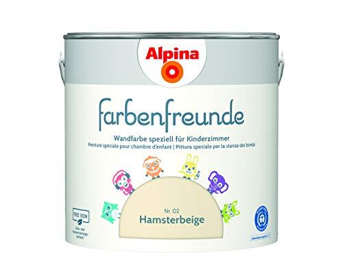 Alpina Farbenfreunde 2,5L Kinderzimmerfarbe Wandfarbe (Hamsterbeige)