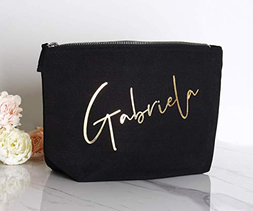 Bridesmaids Makeup Bags Bridesmaids Gift Idea Bridal Party Cosmetic Bags Gifts Maid of Honor Bags Bridesmaid Canvas Personalized Makeup Bags