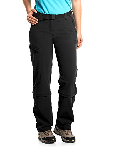Maier Sports Damen Hose Arolla Zip Off, schwarz (black), 48
