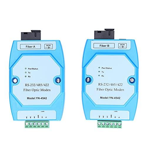 Eujgoov 2Pcs RS ‑ 232/485/422 Equipo electrónico de modo de fibra óptica con manual de usuario en inglés YN4542 ‑ A + YN4542 ‑ B