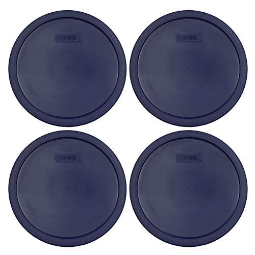 Pyrex 7403-PC Dark Blue 10 Cup (2.5qt) Sculptured Mixing Bowl Lid - 4 Pack