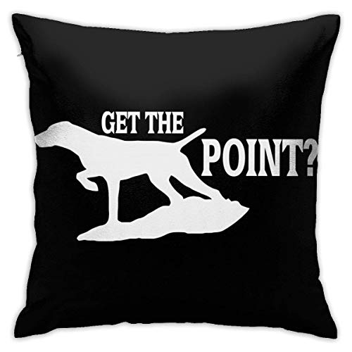 Throw Pillow Cover Cushion Cover Pillow Cases Decorative Linen Dog Got Point for Home Bed Decor Pillowcase,45x45CM