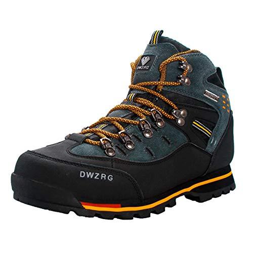 Scarpe da Trekking da Uomo Scarponi da Montagna Antiscivolo per Esterni Autunno Inverno Sport Sneakers Scarpe da Trekking in Pelle Traspiranti