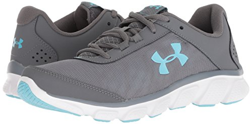 Under Armour Women's Micro G Assert 7 Running Shoe, Graphite (103)/Steel, 6
